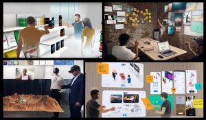 Imagens da plataforma colaborativa Spatial